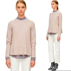 NWT Rebecca Taylor Rib Swing Sweater Pink